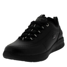 Womens Skechers Synergy 2.0 Leather Black Lightweight Walking Trainers UK 3-9