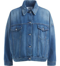 Giubbino MM6 Maison Margiela Cocoon in denim blu