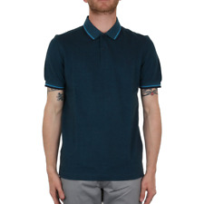 X Fred Perry Twin Tipped Polo Shirt - Moroccan Navy Oxford (Fred Perry Limited)