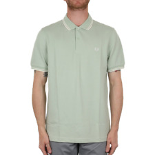 X Fred Perry Twin Tipped Polo Shirt - Mint (Fred Perry Limited)