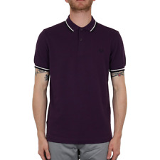 Fred Perry Twin Tipped Polo Shirt - Mulberry