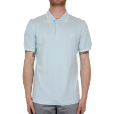 X Fred Perry Twin Tipped Polo Shirt - Sky Blue Oxford (Fred Perry Limited)