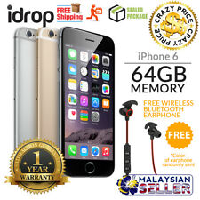 Apple iPhone 6 64GB - FACTORY UNLOCKED with 1 Year Warranty + Free Gift