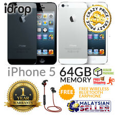 idrop Apple iPhone 5 64GB - FACTORY UNLOCKED with 1 Year Warranty + Free Gift