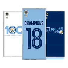 MANCHESTER CITY MAN CITY FC 2017/18 CHAMPIONS SOFT GEL CASE FOR SONY PHONES 1