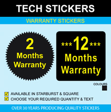 Warranty Stickers - 41mm Starbursts or 15mm Squares