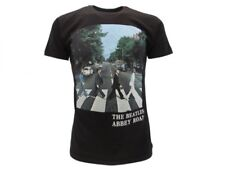 T-Shirt BEATLES Abbey Road Maglietta ROCK nera Uomo Donna ORIGINALE IDEA REGALO