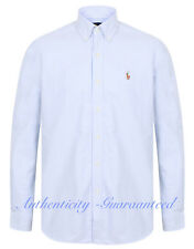 Ralph Lauren Classic Fit Oxford Cotton Shirt Blue Stripe S - XXL RRP £85