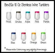 Set of 2 Bev2Go Stemless Acrylic Wine Tumblers - Blank Ready To Personalize!