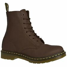 Dr.Martens 1460 Pascal 8-Eyelet Dark Brown Womens Virginia Combat Ankle Boots