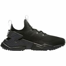 Nike Huarache Drift Black Wolf Grey Youth Mesh Slip-on Low-top Athletic Trainers