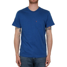 X Levis Sunset Pocket Tee - True Blue Heather