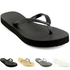 Womens Top Plain Brasil Holiday Sandals Shoes Beach Summer Flip Flops UK 3-9