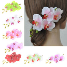Women Moth orchid Hair Flower Clip Bridal Party Wedding Hair Accessories MW
