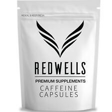 Pure Caffeine Anhydrous Capsules - 200mg Per Serving - Quality Guaranteed UK