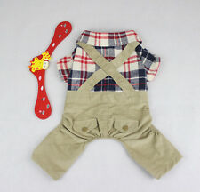 UK CLOTHES APPAREL PARTY OUTFIT FOR SMALL DOGS CATS PETS JUMPSUIT OVERALLS NEW