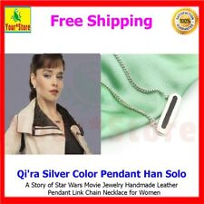 Qi'ra Silver Color Pendant Han Solo:A Story of Star Wars Movie Jewelry Handmade