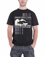 Fall Out Boy T Shirt Mania Losing my Mind Band Logo Official Mens Black