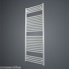 Central Heating Towel Rail Warmer White Bathroom Radiator 600mm Wide 1469mm High