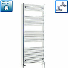 Central Heating Towel Rail Rad Bathroom Radiator 650mm Wide Chrome 1600mm High *