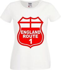 Copa Mundial Classic Football World Cup Retro England Route 1  Ladies T Shirt