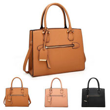 Womens Amerie Luggage Leather Tote Handbag Hobo Shopper Crossbody Shoulder Bag