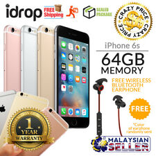 Apple iPhone 6s 64GB - FACTORY UNLOCKED with 1 Year Warranty + Free Gift