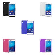 FOR SONY XPERIA M4 AQUA S-LINE SILICONE GEL IN VARIOUS COLOURS COVER CASE