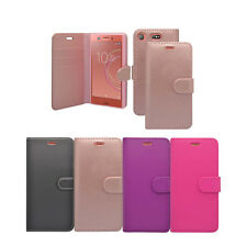 For Sony Xperia XZ1 Compact  In Various Colours Wallet Book Flip Cover Case