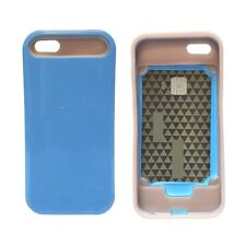 BLUE I GLOW HARD CASE COVER FOR APPLE IPHONE 5G AND 5S