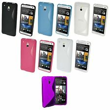FOR HTC ONE M7 S-LINE SILICONE GEL AND SCREEN PROTECTOR CASE COVER