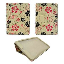 For Apple iPad Mini White With Pink And Black Flower Swirl Glitter Case Cover