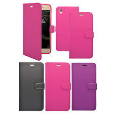 For Sony Xperia XA1 Plus Wallet Book Flip In Various Colours Cover Case