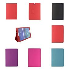 "FOR SAMSUNG GALAXY TAB A 9.7"" VARIOUS COLOUR PU LEATHER WALLET FLIP CASE COVER"
