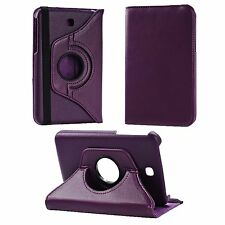 PURPLE PU LEATHER 360 DEGREE ROTATING COVER FOR SAMSUNG GALAXY TAB3 P3200