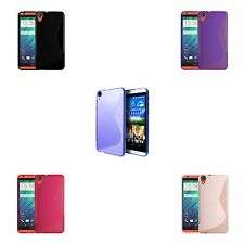 FOR HTC DESIRE 820 S-LINE SILICONE GEL AND SCREEN PROTECTOR CASE COVER
