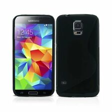 FOR SAMSUNG GALAXY S5 MINI S-LINE SILICONE GEL AND SCREEN PROTECTOR CASE COVER