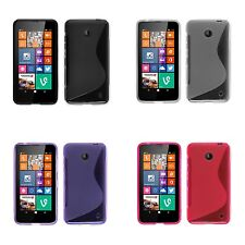 FOR NOKIA LUMIA 630 S-LINE SILICONE GEL AND SCREEN PROTECTOR COVER CASE