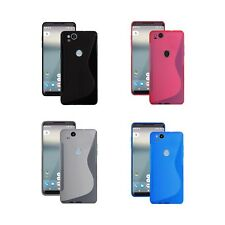 For Google Pixel 2 XL S-Line Silicone Gel In Various Colours Cover Case