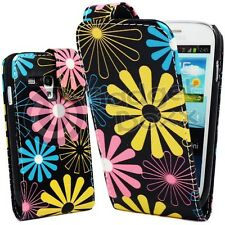 FOR SAMSUNG GALAXY S3 MINI FLORAL MULTI COLOUR PU LEATHER COVER CASE