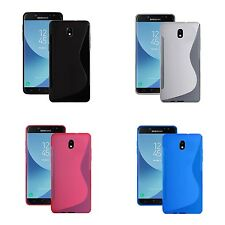 For Samsung Galaxy J3 2017 S-Line Silicone TPU Gel In Various Colours Cover Case