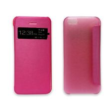 HOT PINK BOOK FLIP CASE VIEW WINDOW PU LEATHER COVER CASE FOR APPLE IPHONE 5C