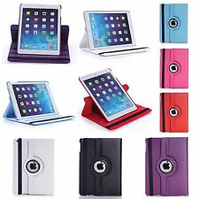 FOR APPLE IPAD AIR IN VARIOUS COLOUR PU LEATHER 360 DEGREE ROTATING COVER CASE