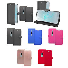 For Sony Xperia XZ2 Premium Wallet Book Flip In Various Colours Case Cover