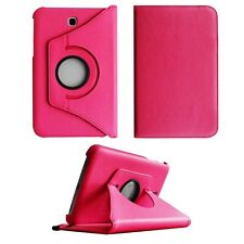 COVER CASE FOR SAMSUNG GALAXY TAB3 P3200 PINK PU LEATHER 360 DEGREE ROTATING