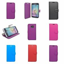 para Samsung Galaxy S6 EDGE Cartera en varios colores FUNDA