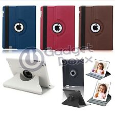 FOR APPLE IPAD 2, 3, 4 PU LEATHER 360 DEGREE ROTATING COVER CASE