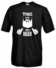 T-shirt This Bear needs Beer J805 Maglietta Barba Moustache Maglia Hipster