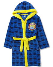 Boys Dressing Gown Despicable Me Minions Robe Hooded Fleece Age's 3-5 Years NEW