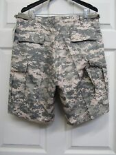 New Army ACU Digital Camo BDU Combat Cargo Shorts Button Fly Rothco Camouflage